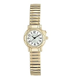 Anne Klein® Goldtone Instalite Expansion Band Watch