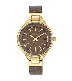 Anne Klein® Shimmer Plastic Bangle Watch