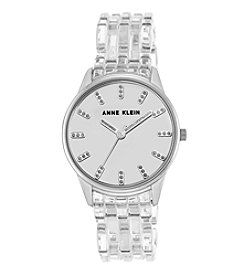 Anne Klein® Clear Plastic Bracelet Watch