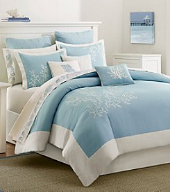 Harbor House Coastline Cotton Duvet Cover Mini Set with Embroidery
