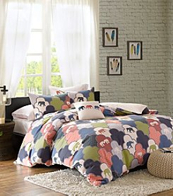 HipStyle Emma 4-Piece Cotton Duvet Cover Set