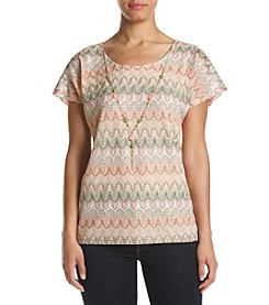 Alfred Dunner® Zig Zag Knit Top