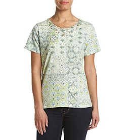 Alfred Dunner® Printed Lace Top
