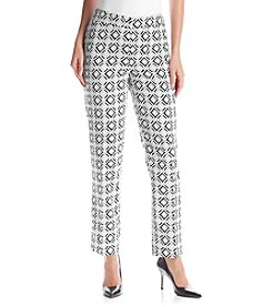 Kasper® Printed Slim Pants
