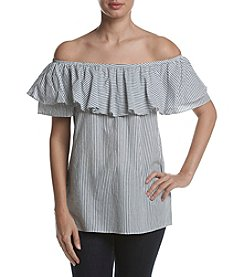 Ivanka Trump® Off The Shoulder Ruffle Blouse