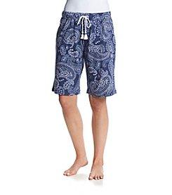 KN Karen Neuburger Bermuda Indigo Paisley Shorts