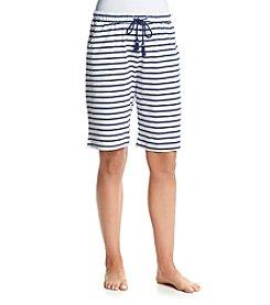 KN Karen Neuburger Striped Bermuda Shorts