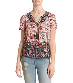 Hippie Laundry Short Sleeve Peasant Top