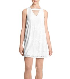 My Michelle® Gigi Neckline Lace Shift Dress