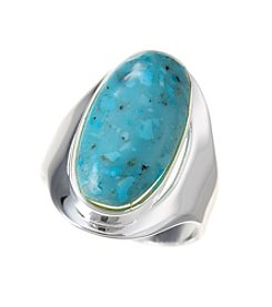 Marsala Turquoise Oval Ring