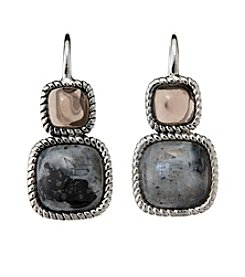 City x City Double Gemstone Earrings