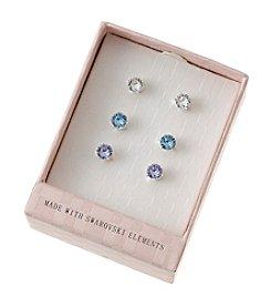 City x City Studded Crystal Earrings Set