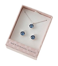 City x City Crystal Stones Earrings And Necklace Set