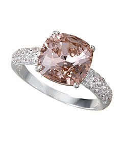 City x City Rose Cushion Cut Crystal Ring