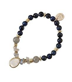 City x City Gemstone Beaded Charm Bracelet