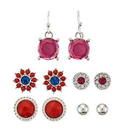 Studio Works® Five Pair Stud And Drop Earrings Set
