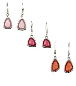 Studio Works® Abstract Drop Earrings Trio