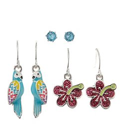 Studio Works® Tropical Earrings Trio