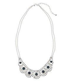 BT-Jeweled Montana & Rhinestone Collar Necklace