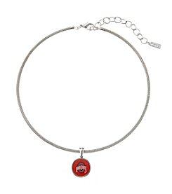 accessory PLAYS™ NCAA® Ohio State Buckeyes Choker Pendant Necklace