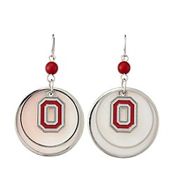 accessory PLAYS™ NCAA® Ohio State Buckeyes Circle Drops Accent Earrings