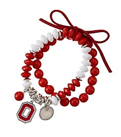 accessory PLAYS™ NCAA® Ohio State Buckeyes Stretch Charm Bracelet Set
