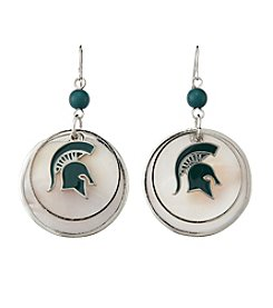 accessory PLAYS™ NCAA® Michigan State Spartans Circle Drop Accent Earrings
