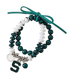 accessory PLAYS™ NCAA® Michigan State Spartans Stretch Charm Bracelet Set