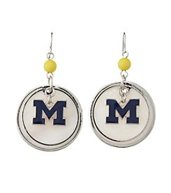 accessory PLAYS™ NCAA® Michigan Wolverines Circle Drops Accent Earrings
