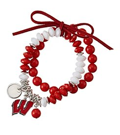 accessory PLAYS™ NCAA® Wisconsin Badger Stretch Charm Bracelet Set