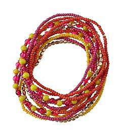 Studio Works® Multi Seed Bead Stretch Bracelet Set
