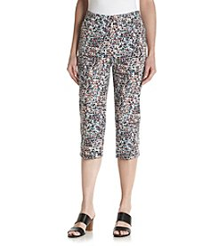 Studio Works® Petites' Print Pull On Capri Pants