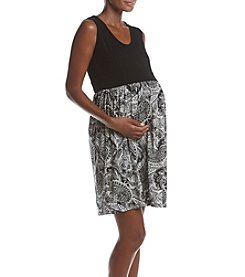 Three Seasons Maternity™ Mixed Pattern Dress