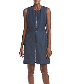 Calvin Klein Denim Front Zip Shirt Dress