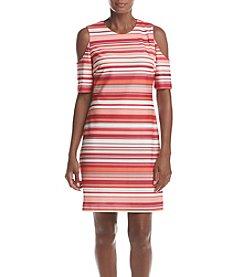 Calvin Klein Striped Off-Shoulder Dress