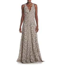 Vera Wang® V-Neck Lace Gown
