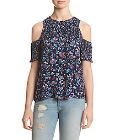 Eyeshadow® Floral Cold Shoulder Top