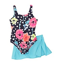 OshKosh B'Gosh® Baby Girls' 1-Piece Floral Print Skirt Set