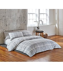 Calvin Klein Washed Plaid Bedding Collection