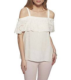 Jessica Simpson Off-Shoulder Flounce Top
