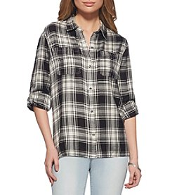 Jessica Simpson Plaid Tunic Top