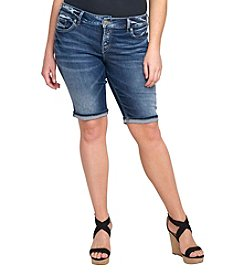 Silver Jeans Co. Plus Size Cuffed Bermuda Shorts