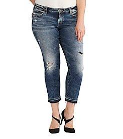 Silver Jeans Co. Plus Size Sam Destructed Boyfriend Jeans