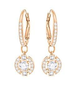Swarovski® Rose Goldtone Sparkling Crystal Earrings