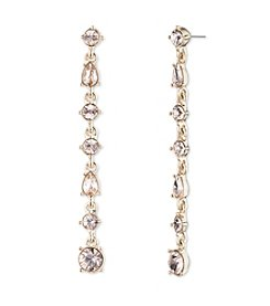 Givenchy® Silk Simulated Crystal Linear Earrings