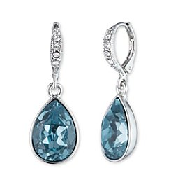 Givenchy® Simualted Crystal Teardrop Drop Earrings