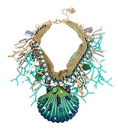 Betsey Johnson® Seashell Frontal Statement Necklace