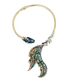 Betsey Johnson® Abalone Fish Tail Hinged Collar Necklace