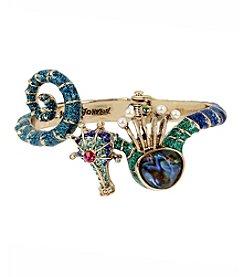 Betsey Johnson® Seahorse Hinged Bangle Bracelet
