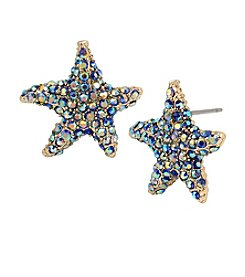 Betsey Johnson® Pave Starfish Stud Earrings